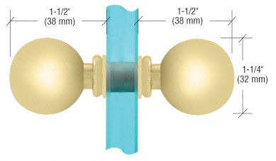 Satin Brass Ball Style Back-to-Back Knob - CRL SDK075SB