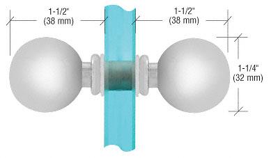 CRL Satin Chrome Ball Style Back-to-Back Knobs CRL SDK075SC