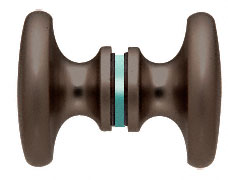 Oil Rubbed Bronze Traditional Style Back-to-Back Shower Door Knobs - CRL SDK100ORB