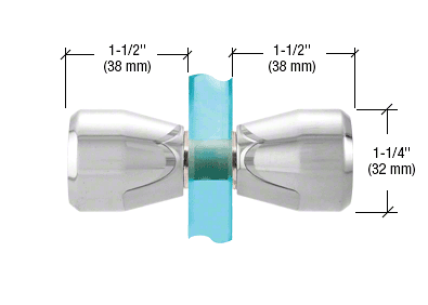 CRL Polished Chrome Back-to-Back Bow-Tie Style Knobs CRL SDK109CH