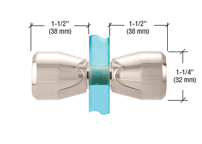 CRL Polished Nickel Back-to-Back Bow-Tie Style Knobs CRL SDK109PN