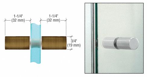 CRL Antique Brass Cylinder Style Back-to-Back Shower Door Knobs CRL SDK112ABR
