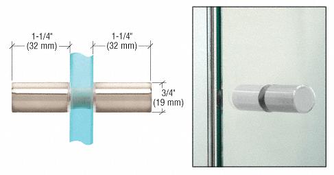 CRL Polished Nickel Cylinder Style Back-to-Back Shower Door Knobs CRL SDK112PN