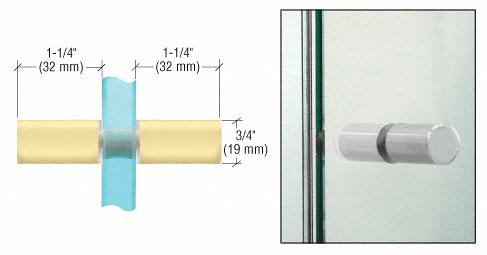 CRL Satin Brass Cylinder Style Back-to-Back Shower Door Knobs CRL SDK112SB