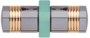 Flush Ring Style Brushed Nickel Knob/Brass Ring Back-to-Back Shower Door Knobs - CRL SDK118BN