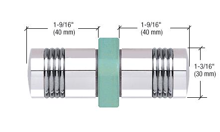 CRL Chrome Knob/Chrome Ring - Flush Ring Style Back-to-Back Shower Door Knobs CRL SDK118CC