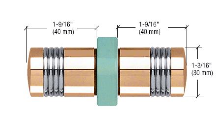 CRL Gold Plated Knob/Chrome Ring - Flush Ring Style Back-to-Back Shower Door Knobs CRL SDK118GP