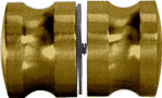 Antique Brass Euro Style Back-to-Back Shower Door Knob - CRL SDK120ABR