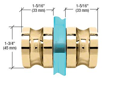 CRL Polished Brass Euro Style Back-to-Back Shower Door Knobs CRL SDK120BR