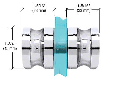 CRL Polished Chrome Euro Style Back-to-Back Shower Door Knobs CRL SDK120CH