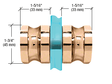 CRL Gold Plated Euro Style Back-to-Back Shower Door Knobs CRL SDK120GP