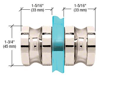CRL Polished Nickel Euro Style Back-to-Back Shower Door Knobs CRL SDK120PN