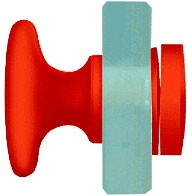 Red Traditional Style Single-Sided Door Knob - CRL SDK200RD