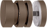 Contemporary Style Oil Rubbed Bronze Single-Sided Shower Door Knobs - CRL SDK206ORB