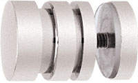 Contemporary Style Brushed Nickel Single-Sided Shower Door Knobs - CRL SDK206BN