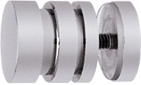 Contemporary Style Chrome Single-Sided Shower Door Knobs - CRL SDK206CH