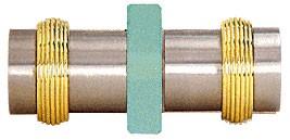 Protruding Ring Style Brushed Nickel Knob/Chrome Back-to-Back Shower Door Knobs - CRL SDK643BN