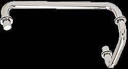 "CRL Polished Chrome 12"" Towel Bar with 6"" Pull Handle Combination Set CRL SDP6TB12CH"