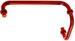 Red 12 inch Towel Bar with 6 inch Pull Handle Combination Set - CRL SDP6TB12RD