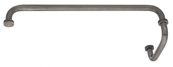 "CRL Antique Brushed Nickel 18"" Towel Bar with 6"" Pull Handle Combination Set CRL SDP6TB18ABN"