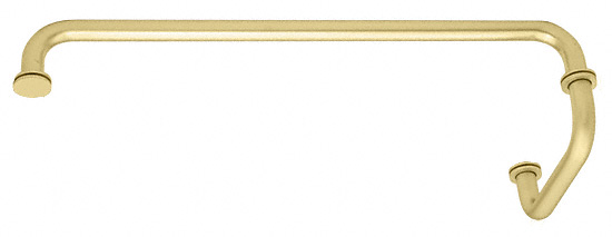 "CRL Satin Brass 18"" Towel Bar with 6"" Pull Handle Combination Set CRL SDP6TB18SB"