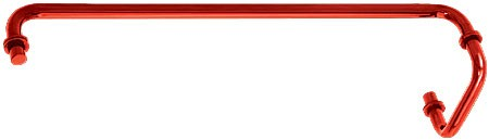 Red 24 inch Towel Bar With 6 inch Pull Handle Combination Set - CRL SDP6TB24RD