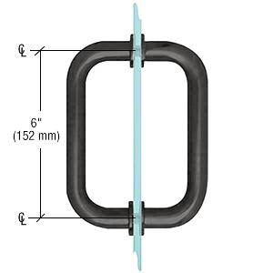 """CRL Black 6"""" Tubular Back-to-Back 3/4"""" Diameter Shower Door Pull Handles CRL SDPR6BL"""