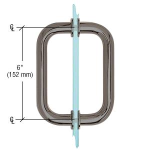 "CRL Gun Metal 6"" Tubular Back-to-Back 3/4"" Diameter Shower Door Pull Handles CRL SDPR6GM"