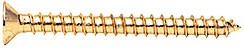 "Gold Plated #10 x 2"" Wall Mounting Flat Head Phillips Sheet Metal Screw - CRL P102GP, Pack of 10"