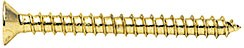"Satin Brass #10 x 2"" Wall Mounting Flat Head Phillips Sheet Metal Screw - CRL P102SB, Pack of 10"