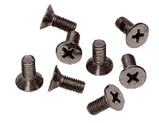 Oil Rubbed Bronze Phillips 5 mm x 12 mm Cover Plate Flat Head Screws - CRL P512ORB Pack of 8