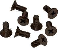 Gun Metal Phillips 5 mm x 12 mm Cover Plate Flat Head Screws - CRL P512GM Pack of 8