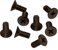 Oil Rubbed Bronze Phillips 6 mm x 12 mm Cover Plate Flat Head Screws - CRL P612ORB Pack of 8
