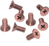 Antique Brushed Copper Phillips 6 mm x 12 mm Cover Plate Flat Head Screws - CRL P612ABCO Pack of 8