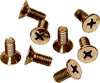 CRL Antique Brass 6 x 12 mm Cover Plate Flat Head Phillips Screws CRL P612ABR