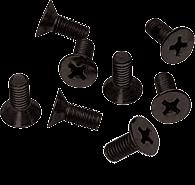 CRL Black 6 x 12 mm Cover Plate Flat Head Phillips Screws CRL P612BL