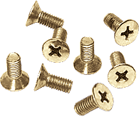 CRL Satin Brass 6 x 12 mm Cover Plate Flat Head Phillips Screws CRL P612SB