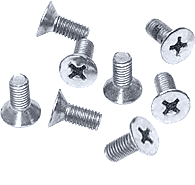 CRL Satin Chrome 6 x 12 mm Cover Plate Flat Head Phillips Screws CRL P612SC
