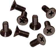 Oil Rubbed Bronze Phillips 6 mm x 15 mm Cover Plate Flat Head Screws - CRL P615ORB Pack of 8