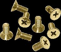 CRL Satin Brass 6 x 15 mm Cover Plate Flat Head Phillips Screws CRL P615SB