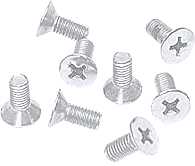 CRL White 6 x 15 mm Cover Plate Flat Head Phillips Screws CRL P615W