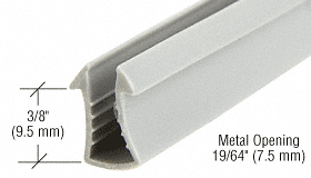 """CRL Shower Door Glazing Vinyl for 1/4"""" Glass - 100' Roll CRL SDV734C"""