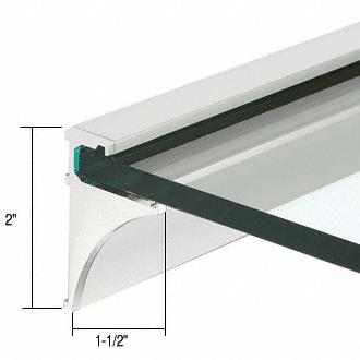 """CRL Brite Anodized 24"""" Aluminum Shelf Kit for 1/4"""" Glass CRL SE1424BA"""