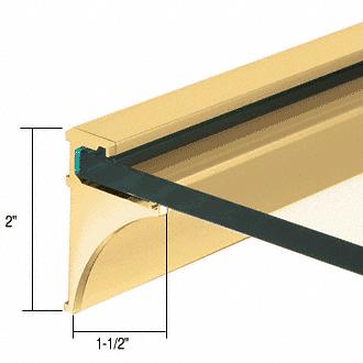 """CRL Brite Gold Anodized 36"""" Aluminum Shelf Kit for 1/4"""" Glass CRL SE1436BGA"""