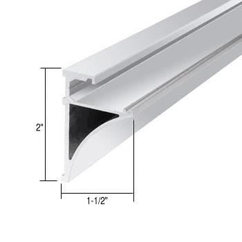 "CRL Brite Anodized 96"" Aluminum Shelving Extrusion for 1/4"" Glass CRL SE1496BA"