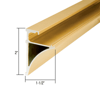 "CRL Brite Gold Anodized 96"" Aluminum Shelving Extrusion for 1/4"" Glass CRL SE1496BGA"
