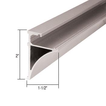 "CRL Brushed Nickel 96"" Aluminum Shelving Extrusion for 1/4"" Glass CRL SE1496BN"
