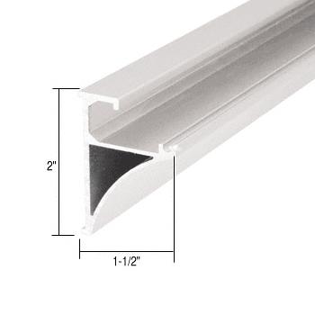 """CRL White 96"""" Aluminum Shelving Extrusion for 1/4"""" Glass CRL SE1496W"""