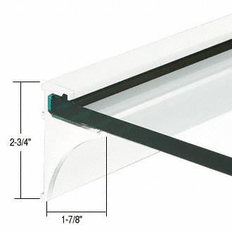 """CRL White 24"""" Aluminum Shelf Kit for 3/8"""" Glass CRL SE3824W"""