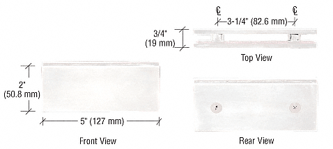 CRL White Square 180 Degree Glass-to-Glass Clamp CRL SGC180W
